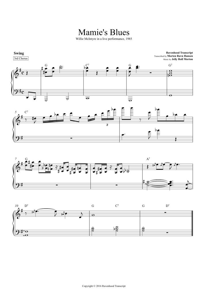 Mamie's Blues 3rd Chorus-1